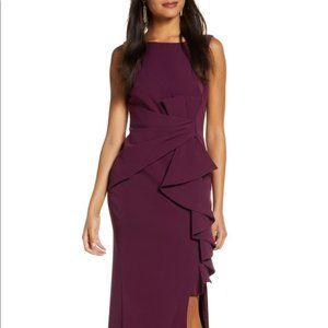 Eliza J Ruffle Front Maxi Gown 8